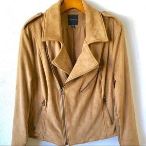 Lane Bryant Faux Suede Leather Moto Jacket